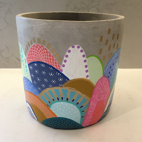 Hand Painted Pot