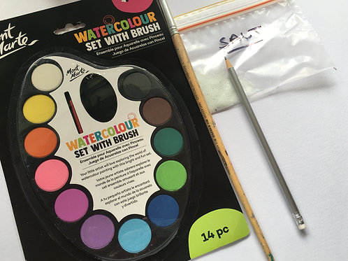Watercolour Art Kit with 3 FREE Tutorials