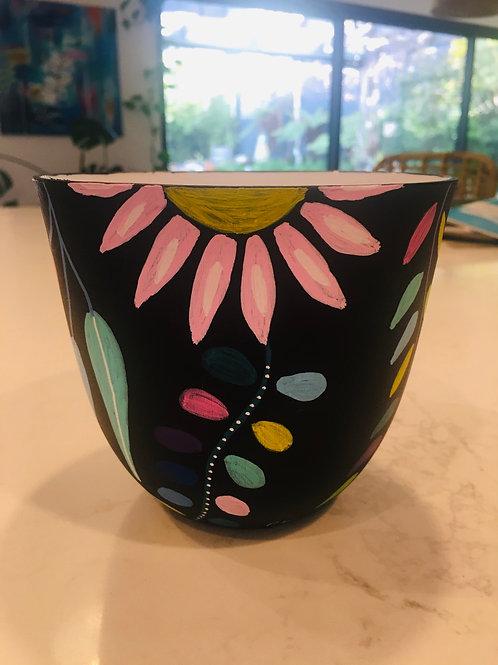 Mini Hand painted plastic pot
