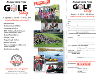 Join us for our annual Camp HOPE Golf Classic on Friday, August 3, 2018