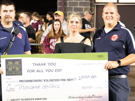 MFD Part of Salute to Service Football Game