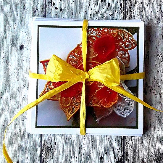 Pack of 8 Greetings Cards - Flowers
