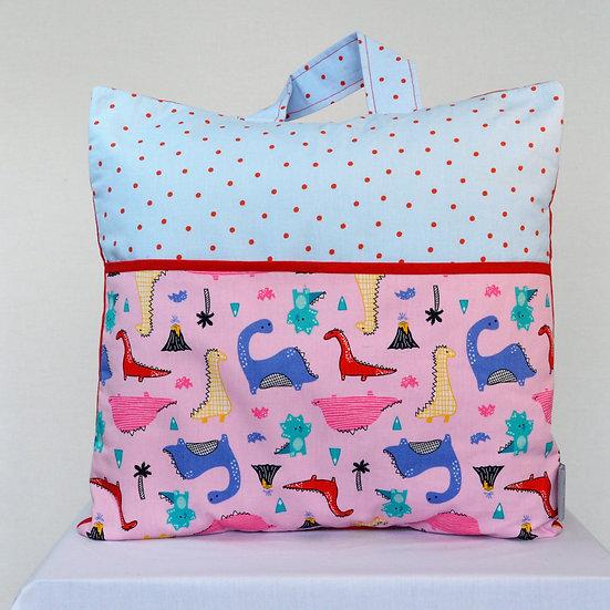 Children's book bag cushion cover - Dinosaurs