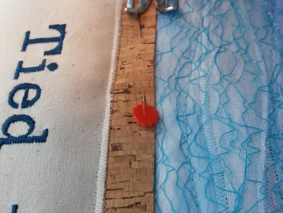 Sewing underway