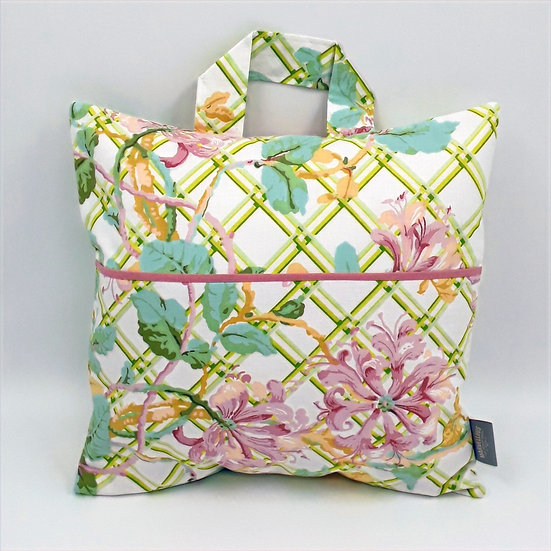 Book bag cushion cover - Honeysuckle