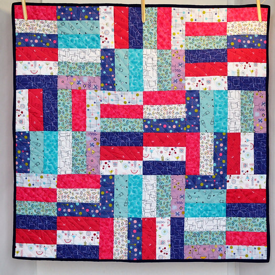 Handmade patchwork quilt - Cocktail Party