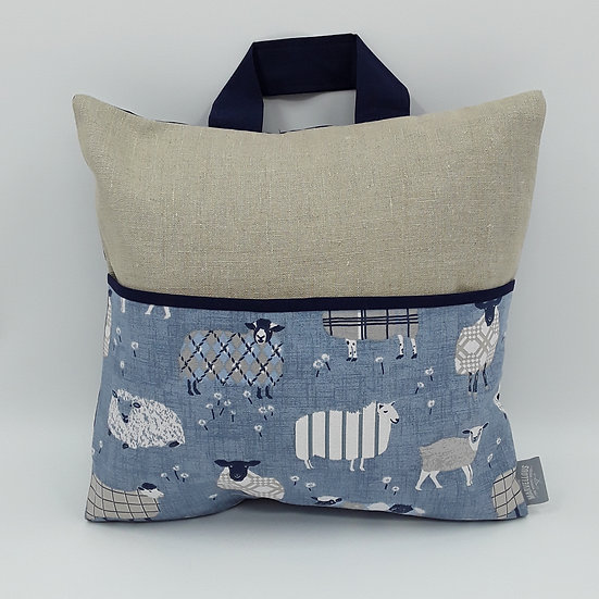 Book bag cushion cover - Sheep
