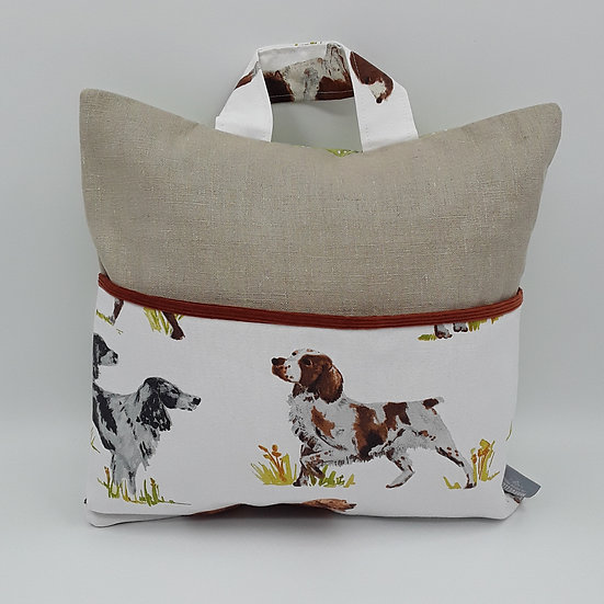 Book bag cushion cover - Dogs