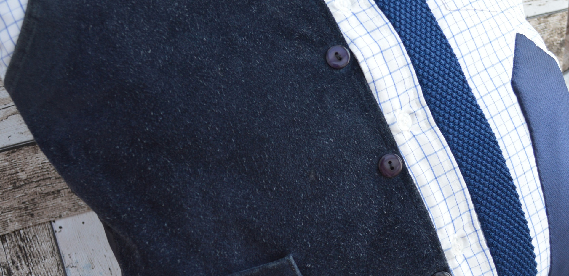Blue suede and 50's tie
