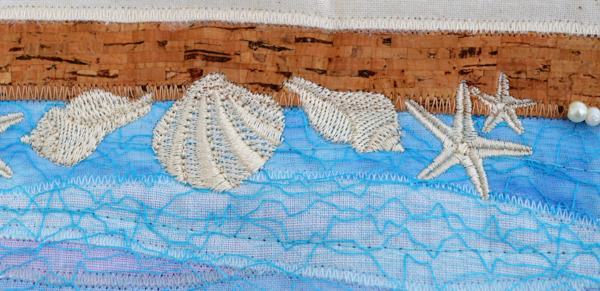 Embroidered shells