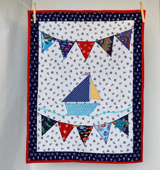 Storytime children's blanket - Boat & Bunting