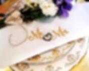 Embroidered wedding Napkins