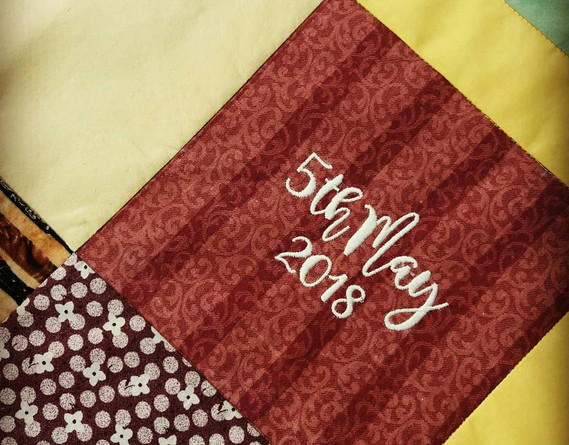 Date embroidery