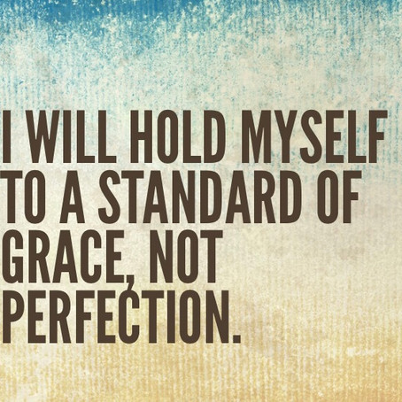 Free Yourself.  Let Go of the Spirit of Perfectionism.
