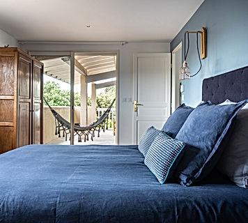 chambre bleue, hamac, gîte pour 2, les petits gardons