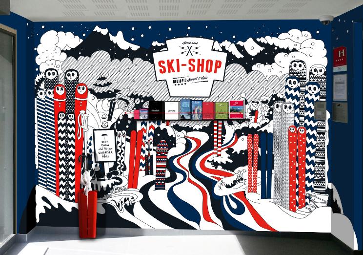 HELIOPIC HOTEL / Entrée ski shop