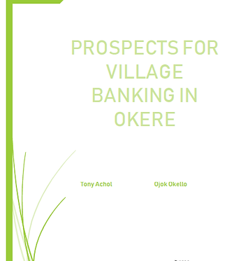 Prospects for Village Banking in Okere.p
