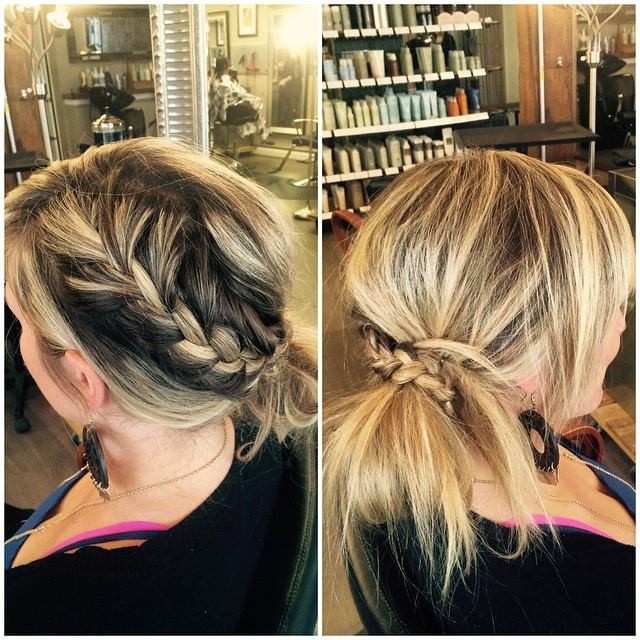 Hair & Makeup by Sara K |  French braid updo