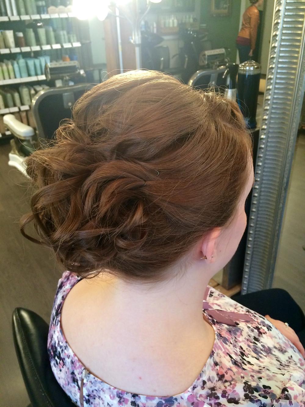 Hair & Makeup by Sara K | wedding updo