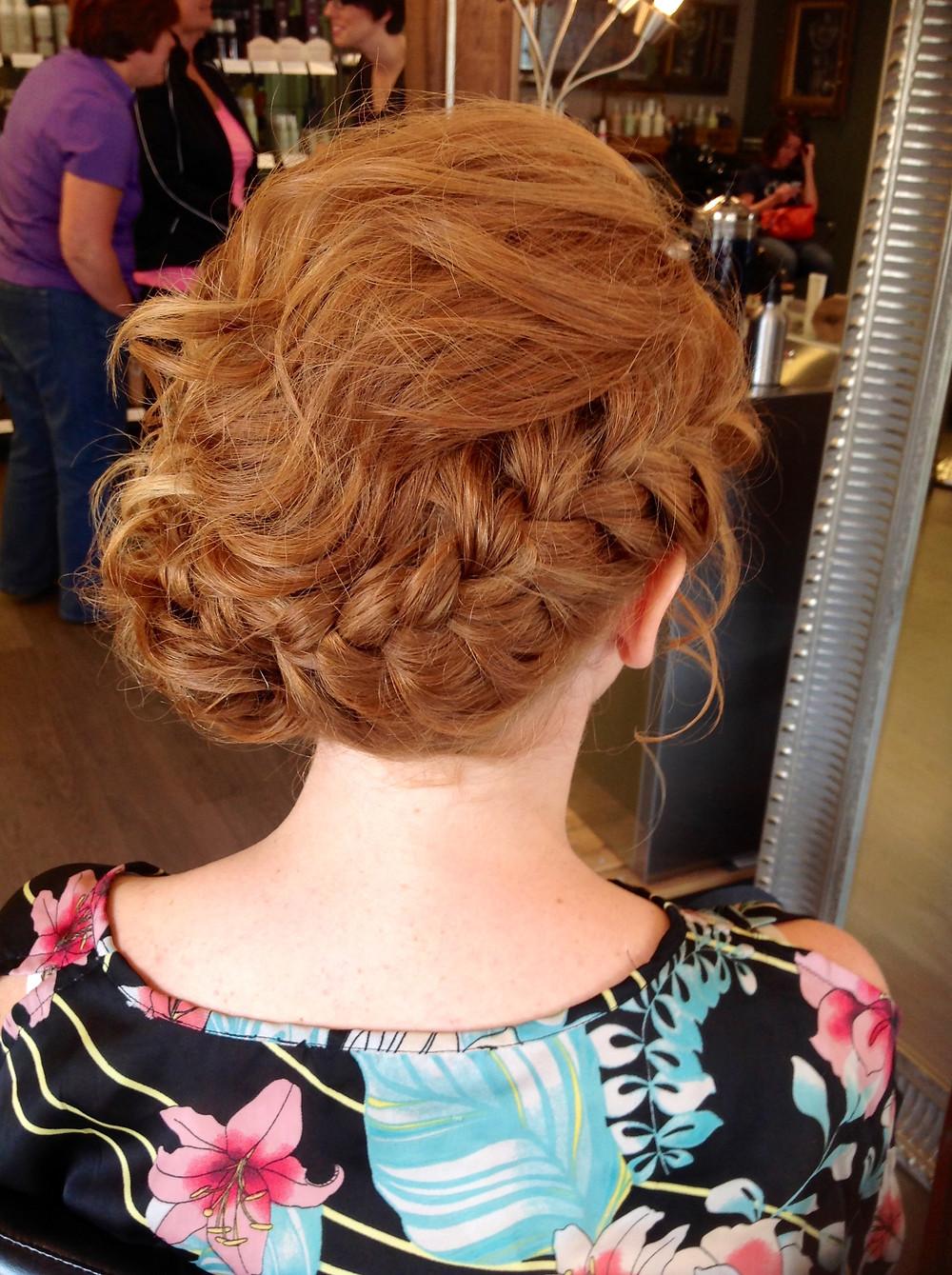 Hair & Makeup by Sara K | Braided bridal updo