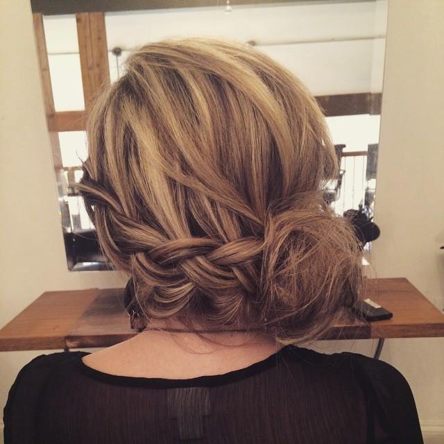 Hair & Makeup by Sara K | Dutch braid updo