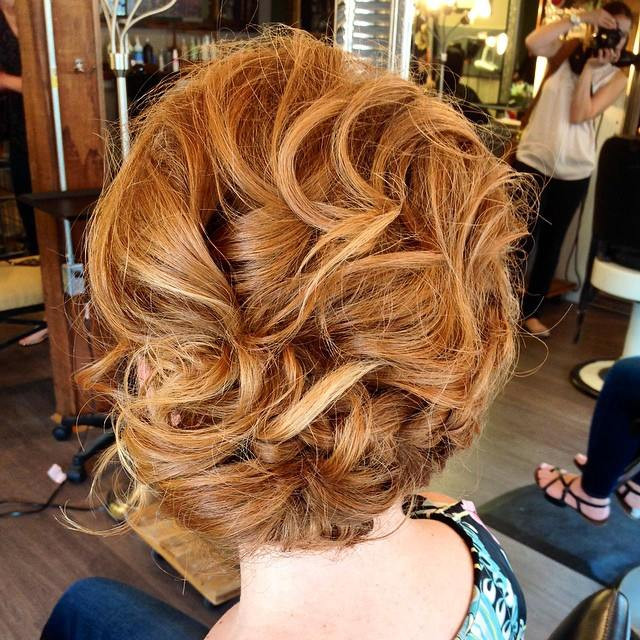Hair & Makeup by Sara K | Curled bridal style