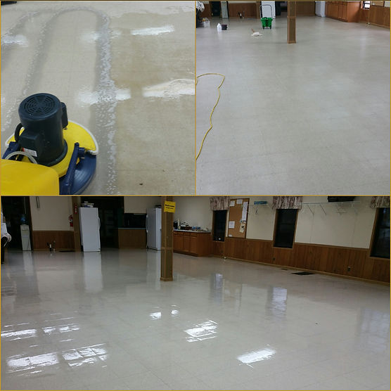 Stripping and sealing vct flooring