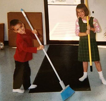 The cleaning crew when they were young a