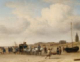 Adriaen van de Velde Een rijtuig op het strand bij Scheveningen 1660 Musee de Louvre.jpg