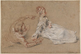 Antoine_Watteau_-_Sitting_Couple_-_WGA25