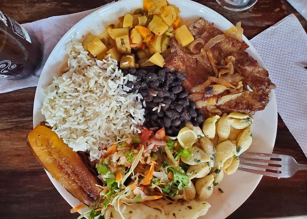Traditional Costa Rican dish, casado
