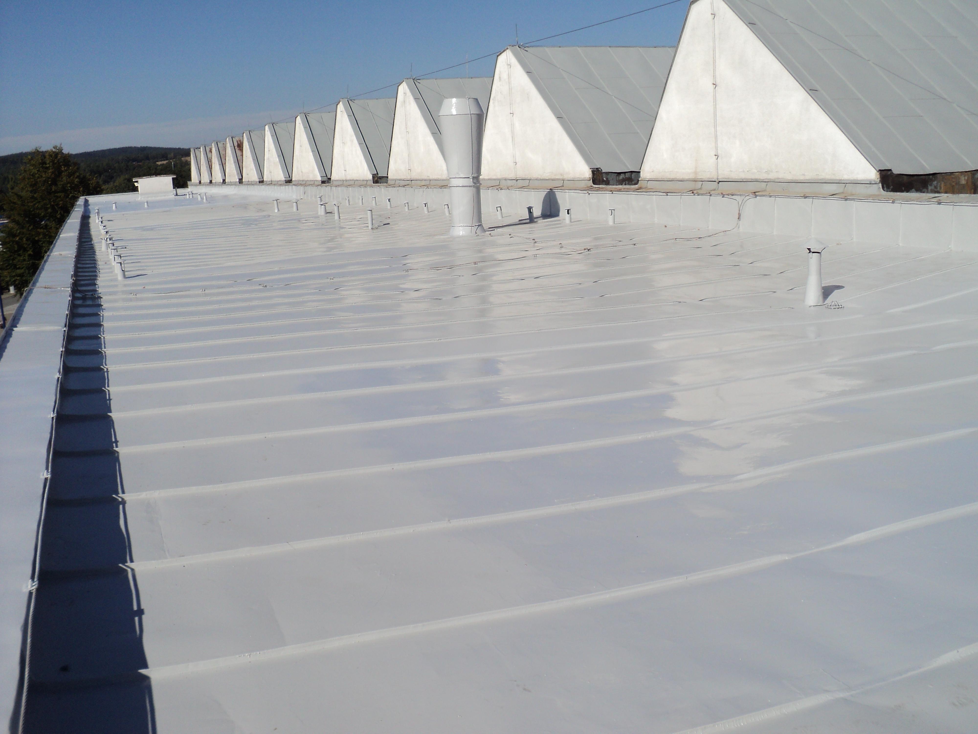 Hydroizolace střechy Světlá nad Sáz.
