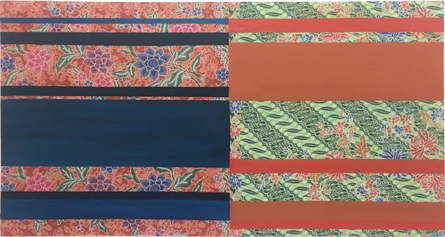 NYONYA II (2019) Oil on batik 85x160cm