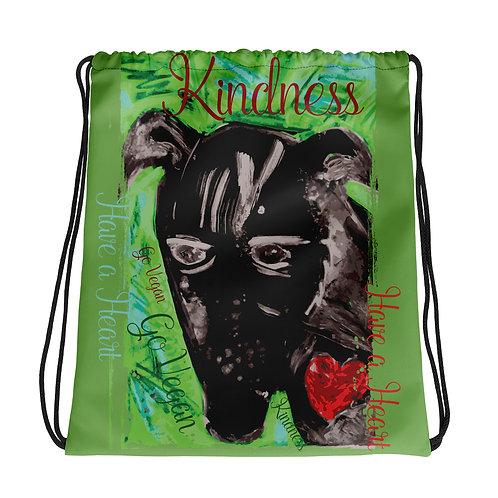 Kindness / Green / Drawstring Bag