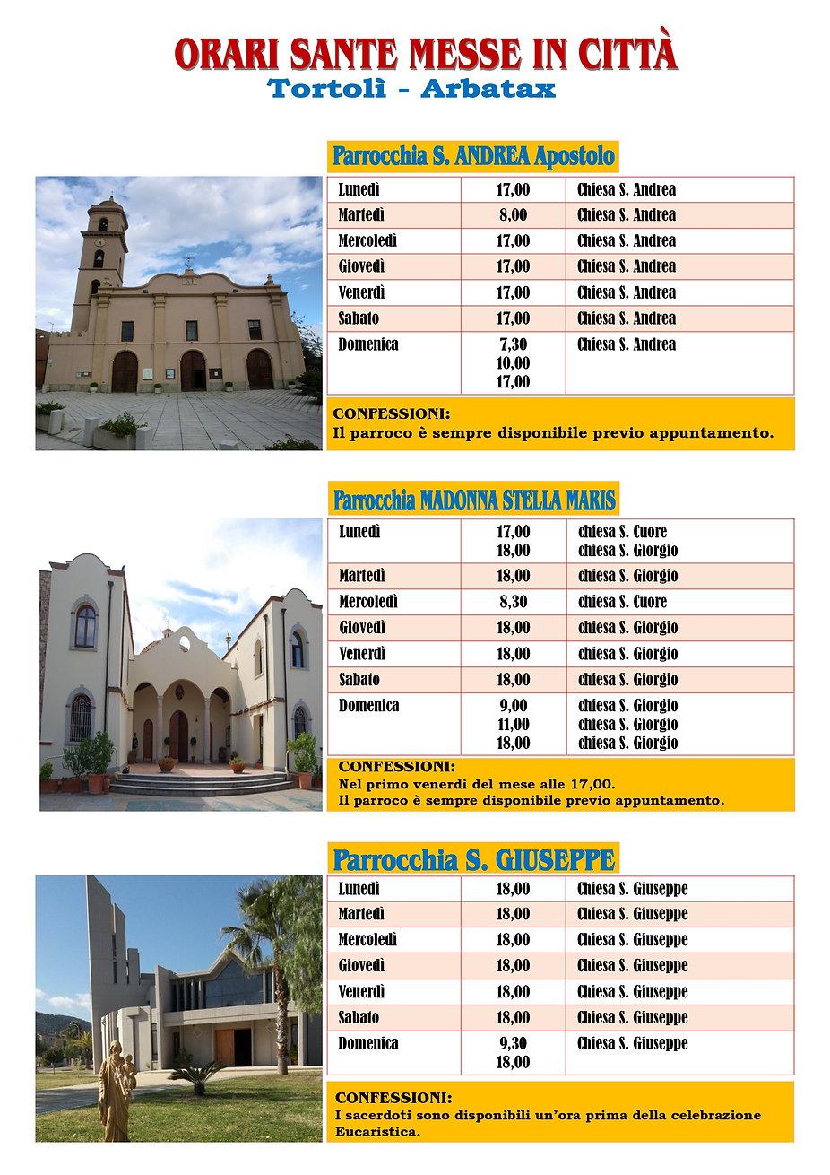 Orario Sante Messe Città Tortolì Arbatax