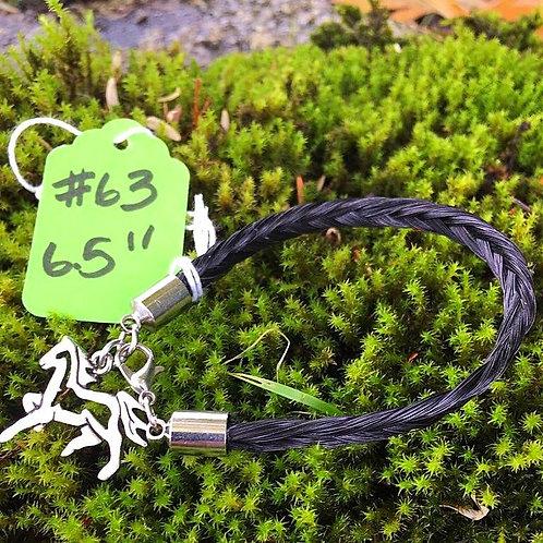 """Horse's Hair Bracelet #63 (6.5"""")"""