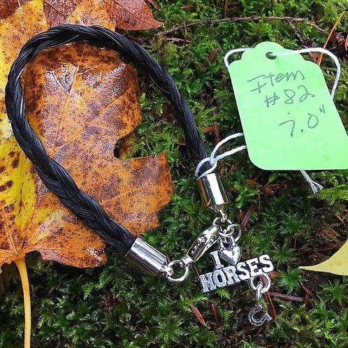 """Horse's Hair Bracelet #82 (7"""")"""