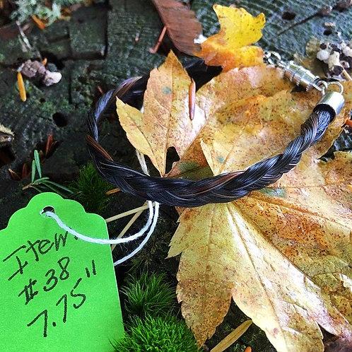 """Horse's Hair Bracelet #38 (7.75"""")"""