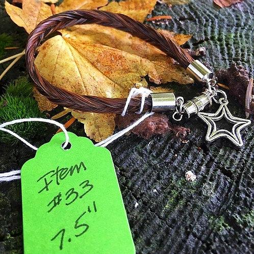 """Horse's Hair Bracelet #33 (7.5"""")"""