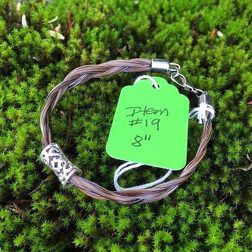 """Horse's Hair Bracelet #19 (8"""")"""
