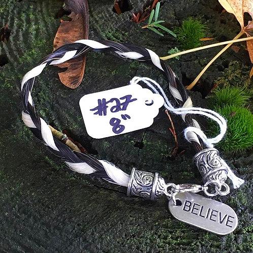 """Horse's Hair Bracelet #27 (8"""")"""