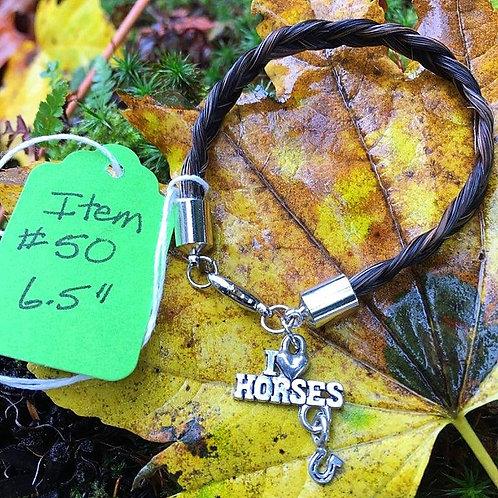 """Horse's Hair Bracelet #50 (6.5"""")"""