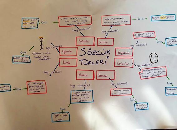 Türkçe Dersi Beyin Haritası