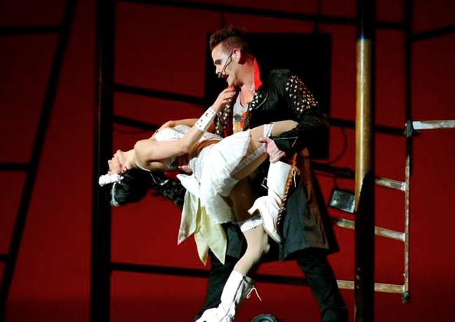 """Bride of Frankenstein in """"Monster Rock!"""""""