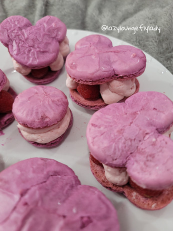 The Unofficial Disney Parks Cookbook ~ Raspberry Rose Mickey Macarons
