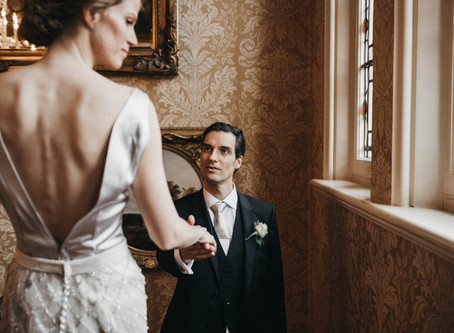 HOMEMADE GOWN | LUXURIOUS KILWORTH HOUSE WEDDING | LEICESTERSHIRE | BY THE VEDRINES