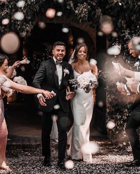 Tuscany Wedding Confetti Shot