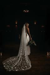 wedding veil flowers