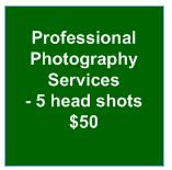 Professional Photography Services - package of 5