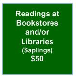 Readings at Bookstores and/or Libraries (Saplings)